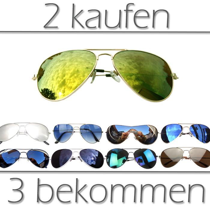 »Pilotenbrille Sonnenbrille Pornobrille Ray-Style Aviator Brille«