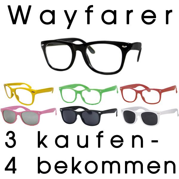 »Wayfarer Nerd Retro Brille Sonnenbrille Sunglasses ohne Stärke NEU«