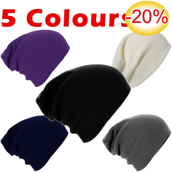 »XXL Oversized Long Beanie Slouch Knitted Hat Cap Berretto 5 Colours«