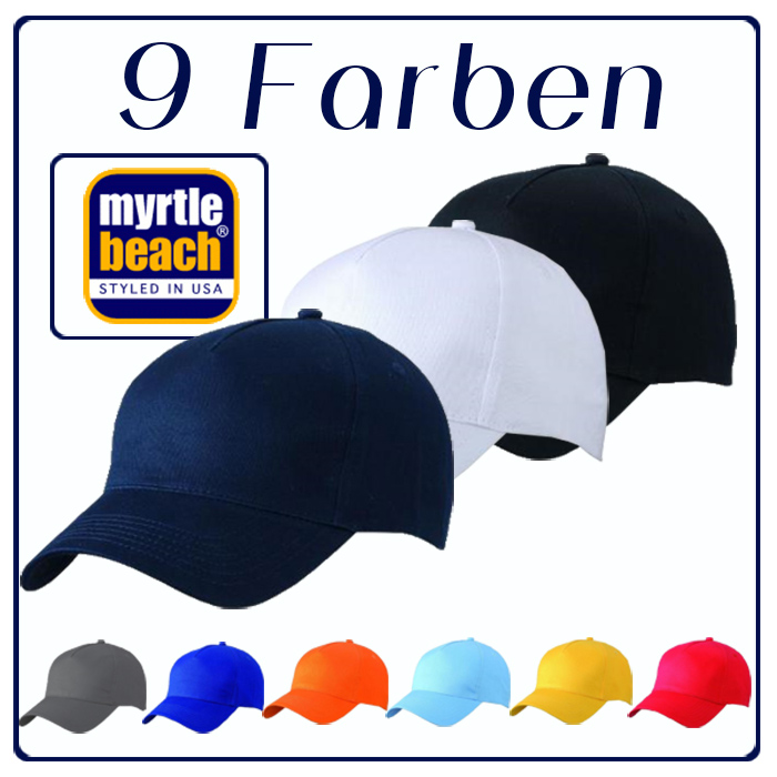 »Basecap Baseball Cap Schildmütze unbrushed Caps Myrtle Beach Mütze«